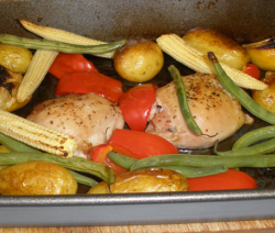 Chicken and Vegetable Summer One Pot