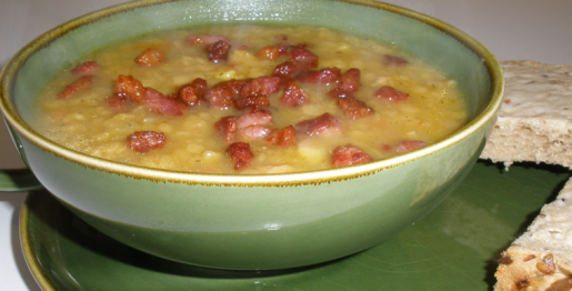 Spicy Lentil And Pancetta Soup